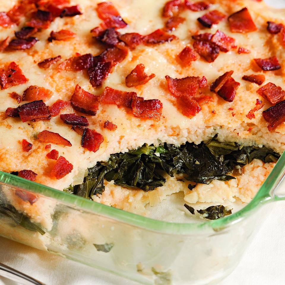 Grits & Greens Casserole Katie Webster