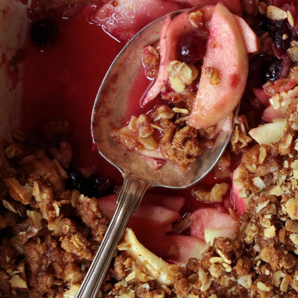 Apple-Cranberry Crisp EatingWell Test Kitchen