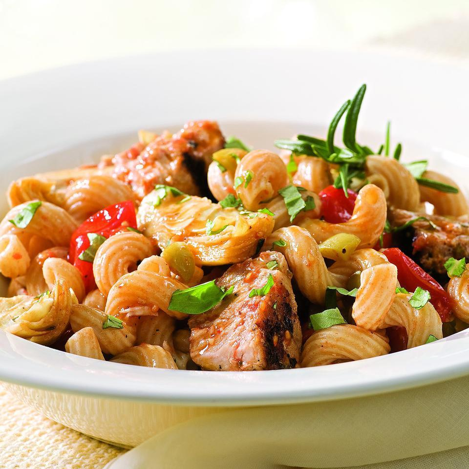 Tuna Pasta with Olives & Artichokes EatingWell Test Kitchen