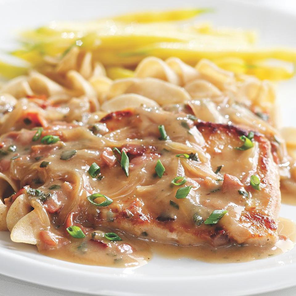 Pork Chops with Creamy Marsala Sauce Jim Romanoff