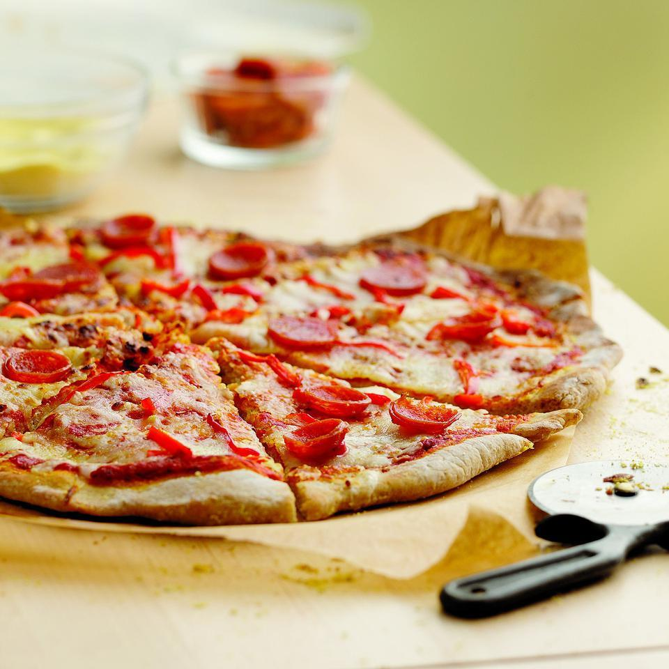 Pepperoni & Pepper Pizza EatingWell Test Kitchen