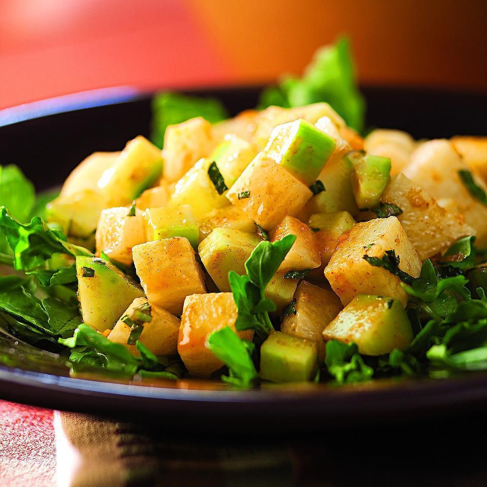 Jicama & Cucumber Salad with Red Chile Dressing Cheryl & Bill Jamison