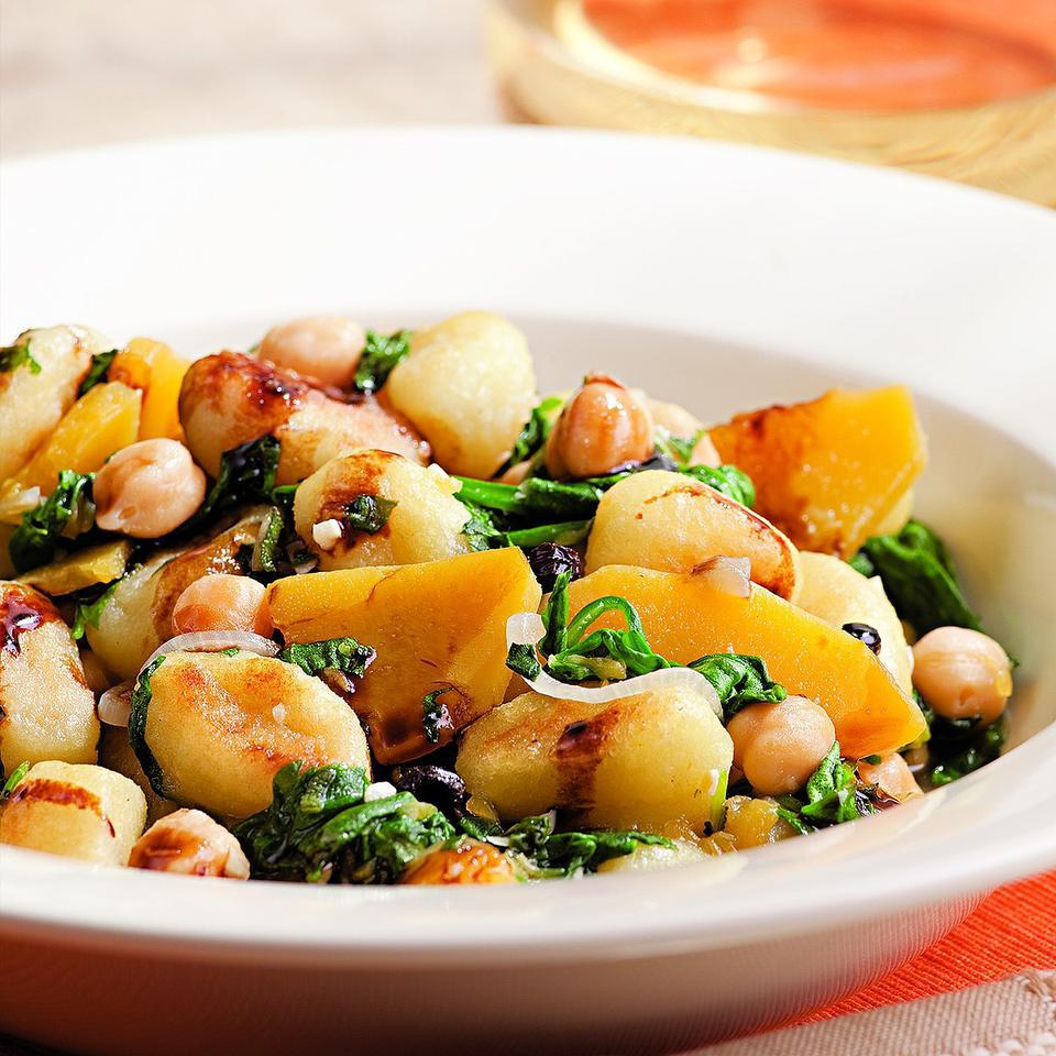 Chickpea, Spinach & Squash Gnocchi EatingWell Test Kitchen