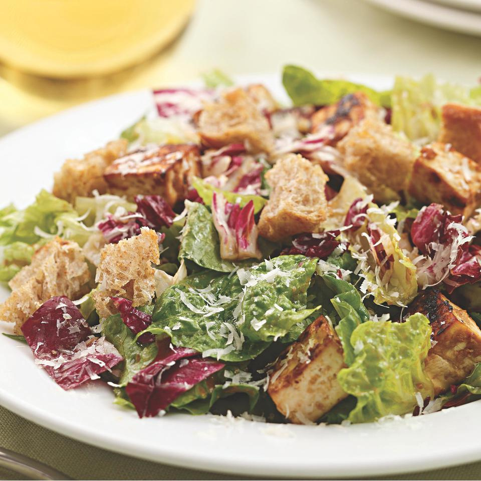 Miso-Garlic-Roasted Tofu Caesar Salad EatingWell Test Kitchen