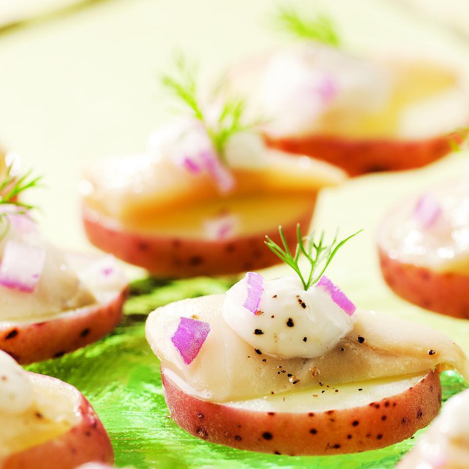 Scandinavian Pickled Herring Bites EatingWell Test Kitchen