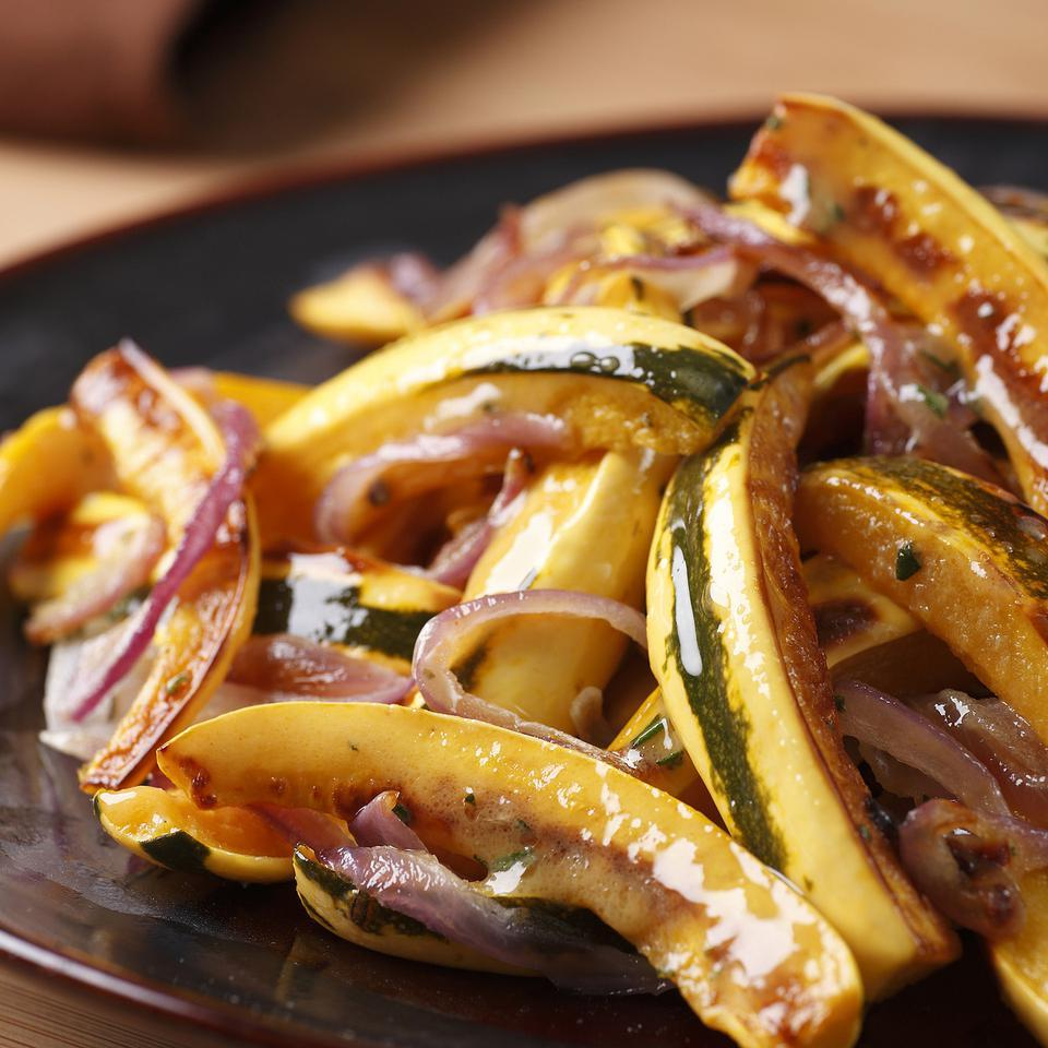 Roasted Delicata Squash & Onions EatingWell Test Kitchen