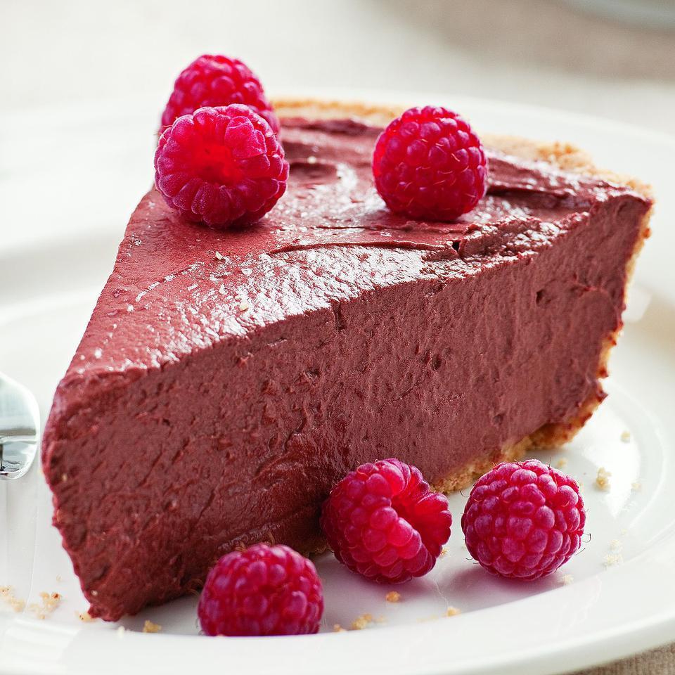 Chocolate Raspberry Tofu Pie Elisabeth Redman