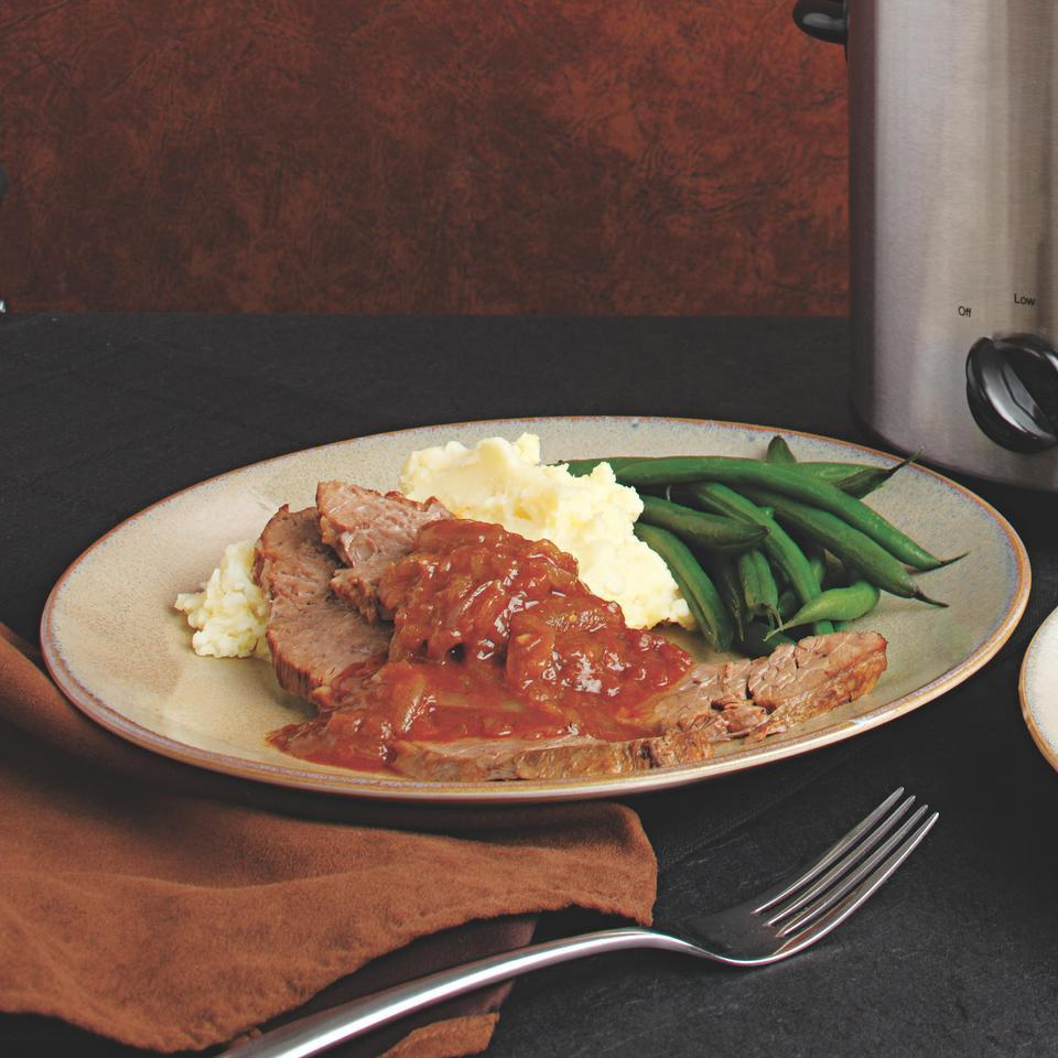 Slow-Cooked Brisket in Onion Gravy Judith Finlayson