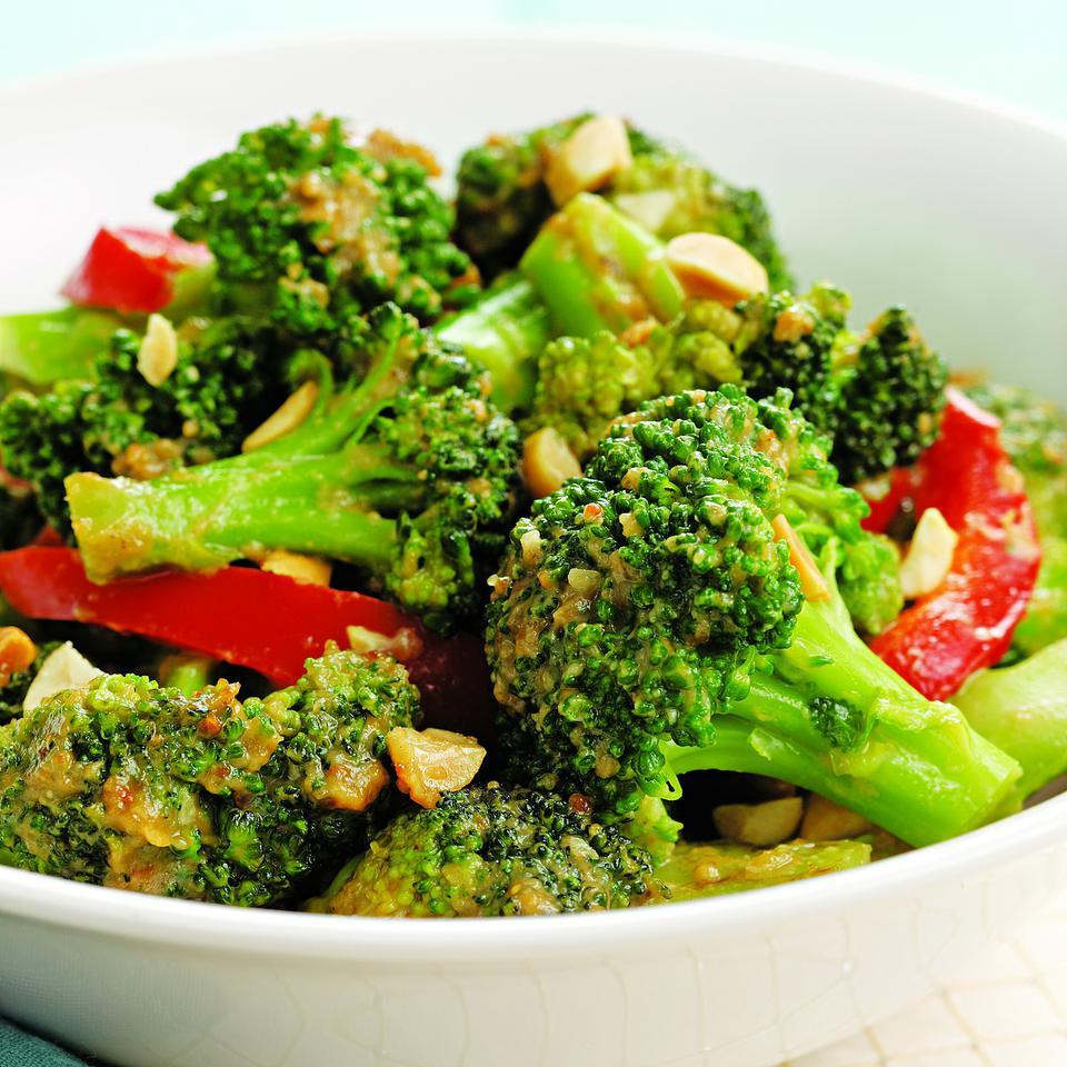 Spicy Stir-Fried Broccoli & Peanuts EatingWell Test Kitchen