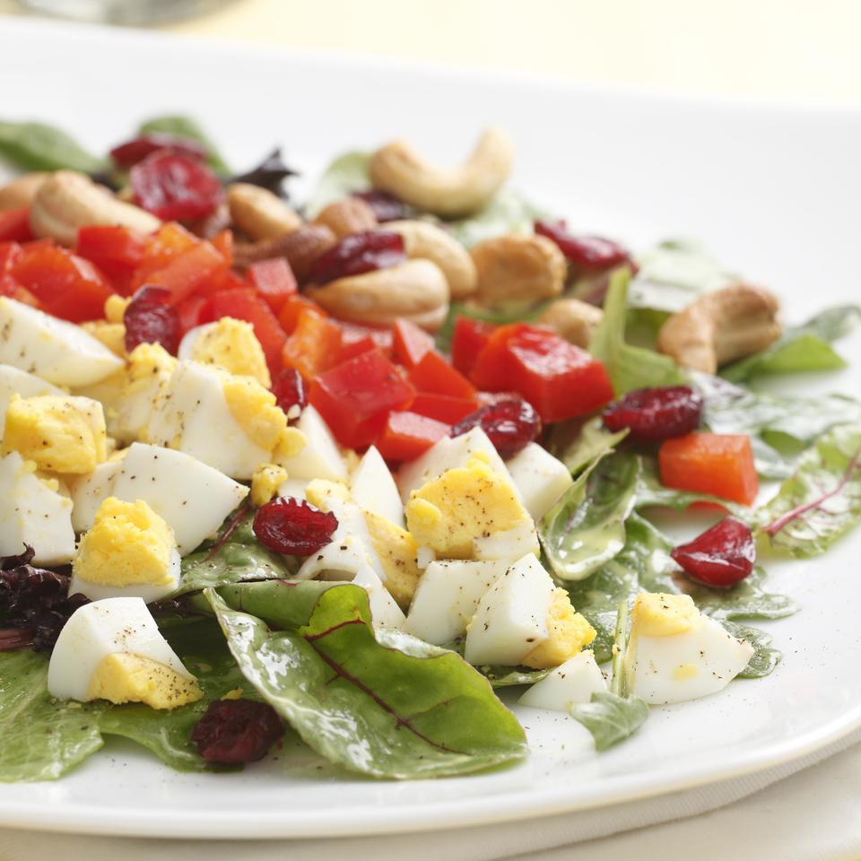 Curried Salad with Egg & Cashews EatingWell Test Kitchen