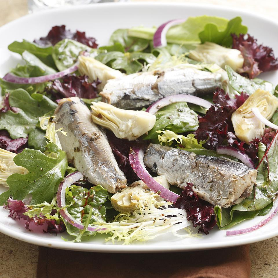Smoky Artichoke-Sardine Salad EatingWell Test Kitchen