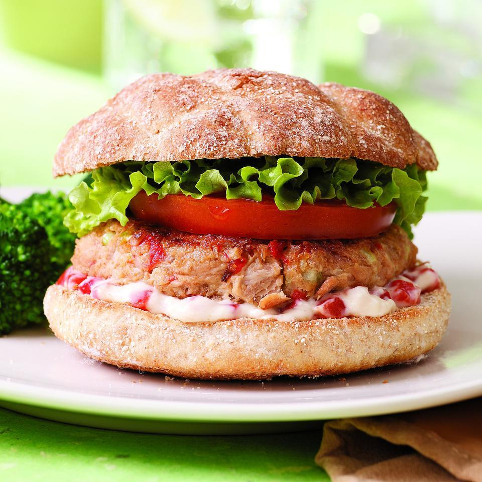 Quick Tuna Burgers for Two EatingWell Test Kitchen