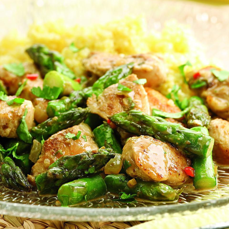 Indian-Spiced Chicken & Asparagus Victoria Abbott Riccardi