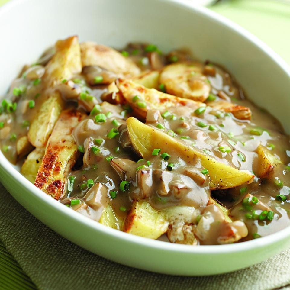 Oven-Fry Poutine with Mushroom Gravy EatingWell Test Kitchen