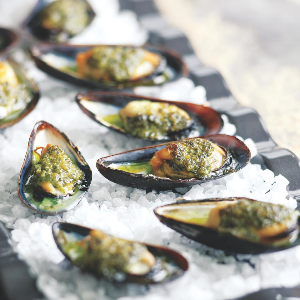 Grilled Mussels with Salsa Verde John Ash