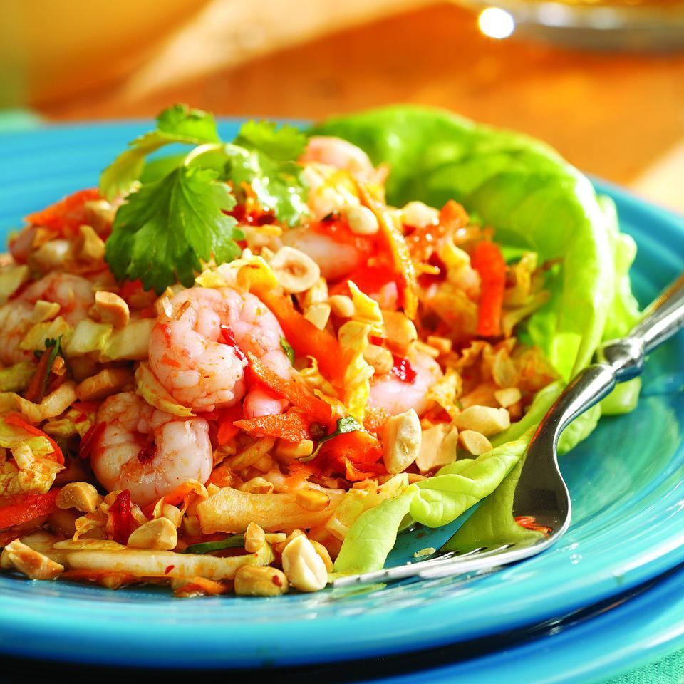 Chilled Maine Shrimp with Cabbage & Peanuts, Vietnamese-Style EatingWell Test Kitchen