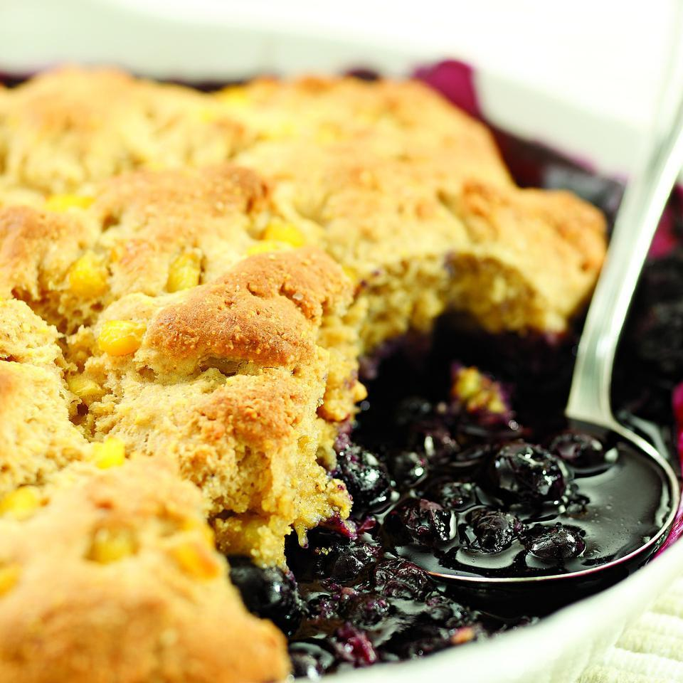 Double Corn-Blueberry Cobbler Marie Simmons