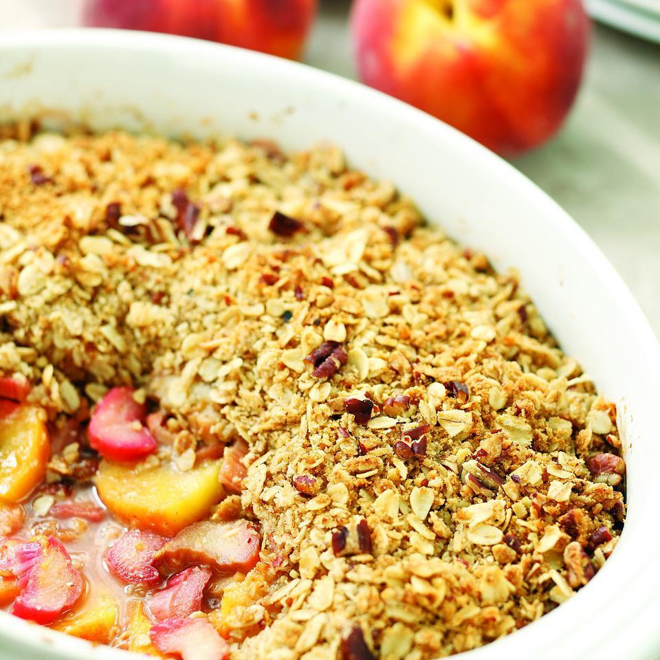 Peach, Rhubarb & Ginger Crisp Marie Simmons