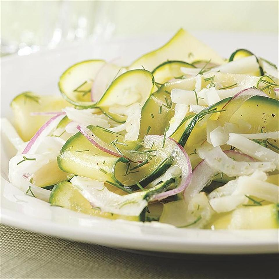 Shaved Zucchini-Fennel Salad EatingWell Test Kitchen