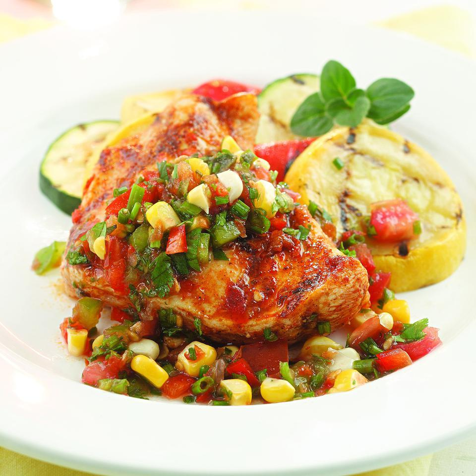 Herbed Salsa with Grilled Chicken EatingWell Test Kitchen