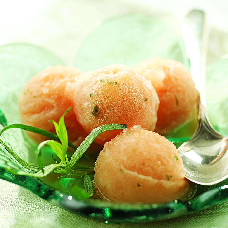 Pink Grapefruit-Tarragon Sorbet EatingWell Test Kitchen