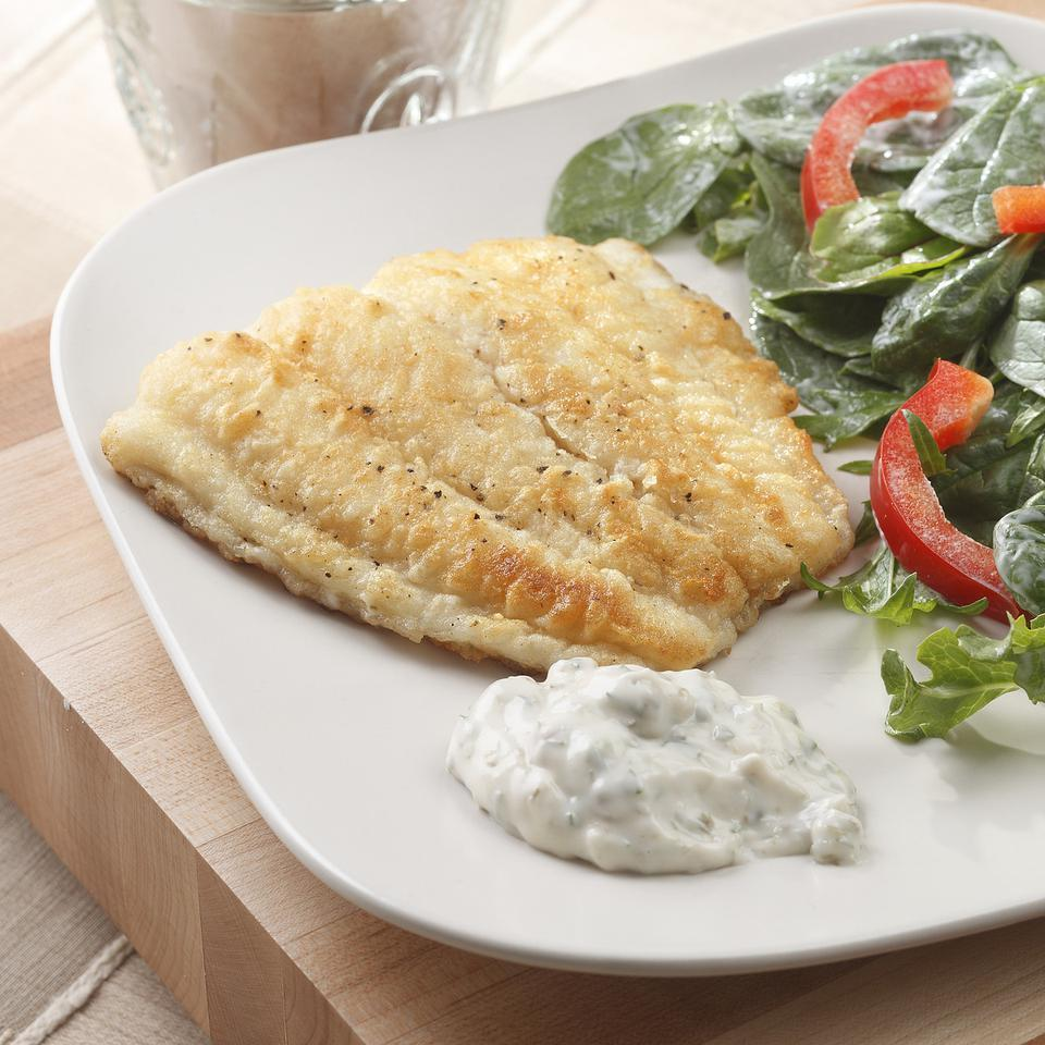 Fish Fillets with Tartar Sauce EatingWell Test Kitchen
