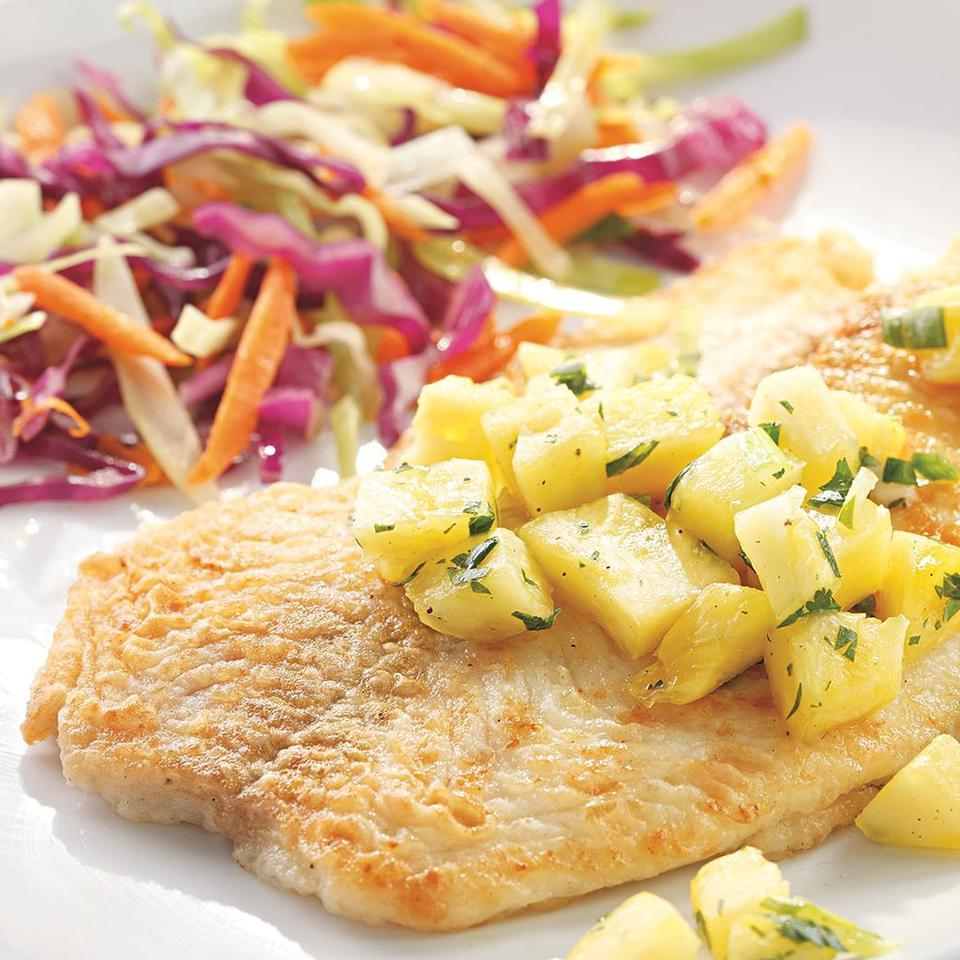 Fish Fillets with Pineapple-Jalapeno Salsa EatingWell Test Kitchen