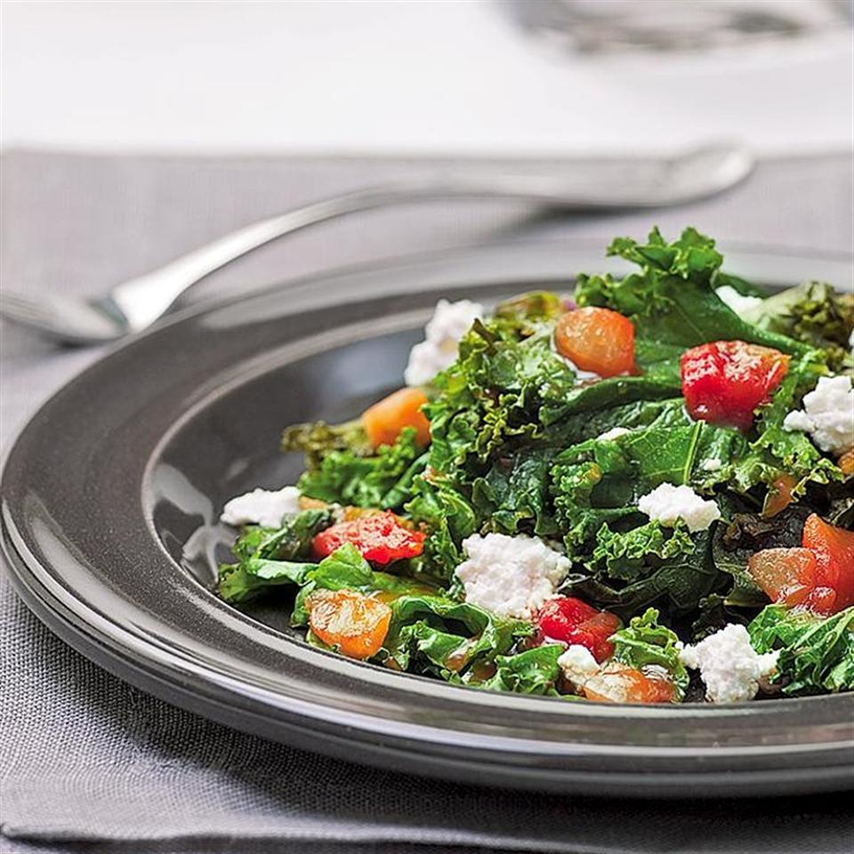 Salsa-Braised Kale EatingWell Test Kitchen