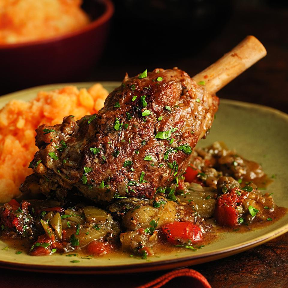 Braised Lamb Shanks & Eggplant Sheilah Kaufman