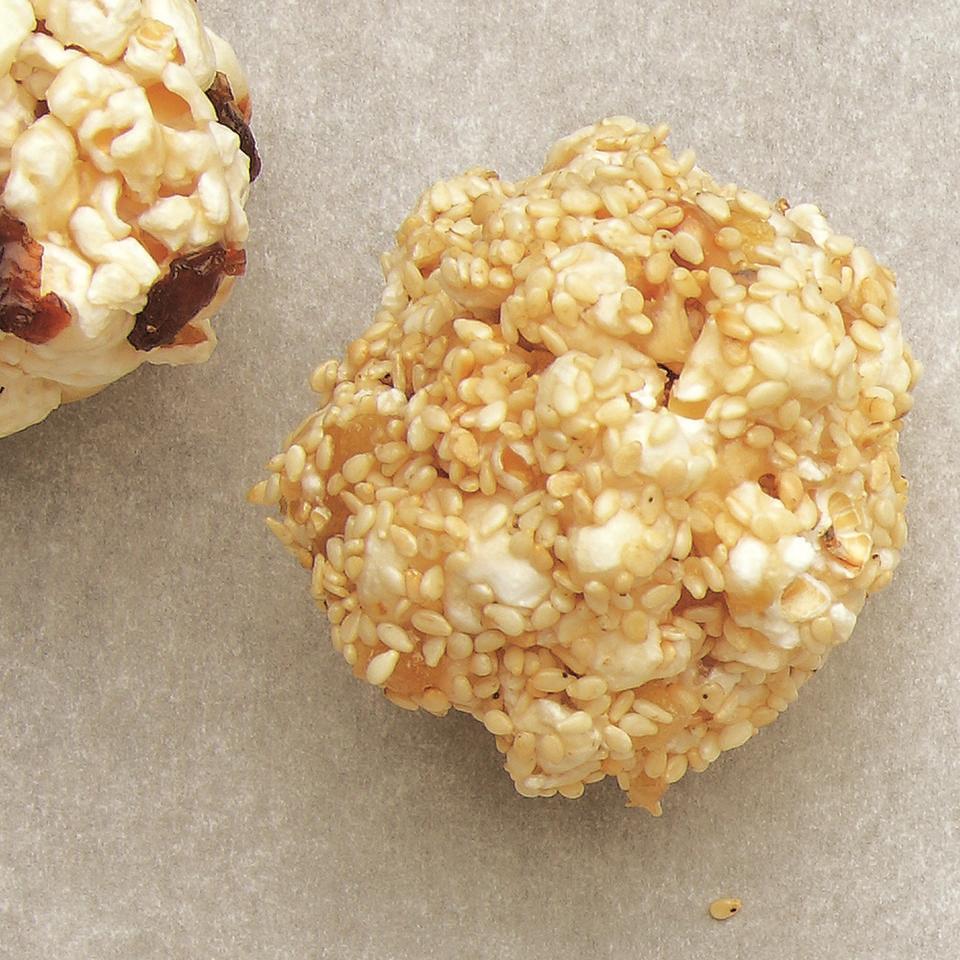 Sesame-Ginger Popcorn Balls EatingWell Test Kitchen