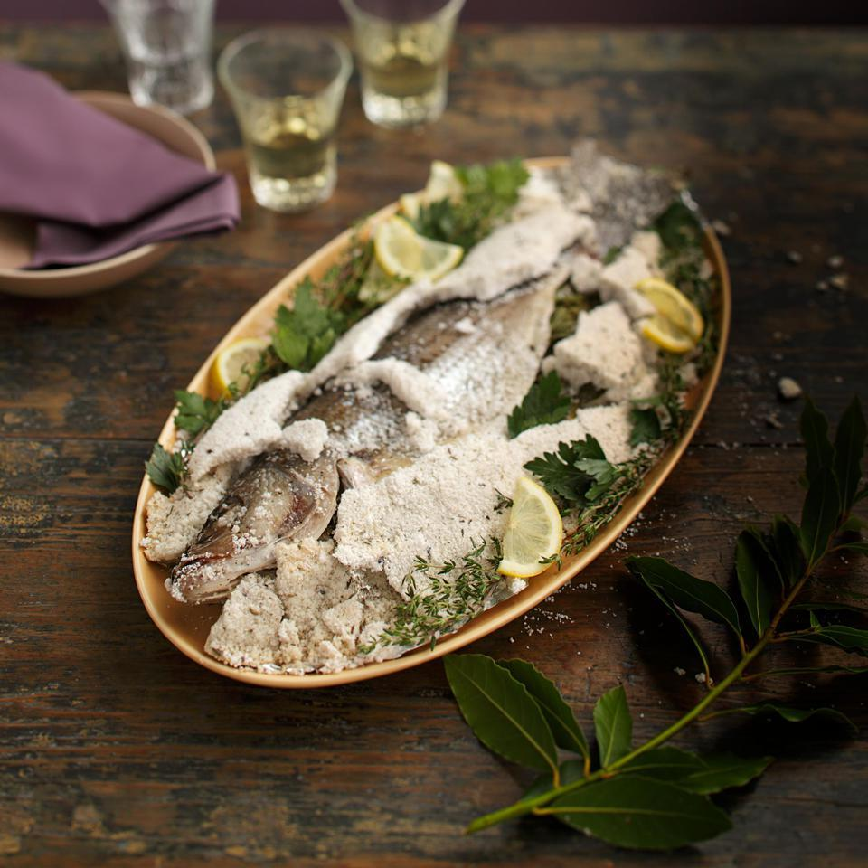 Whole Roasted Fish in a Salt Crust Virginia Willis