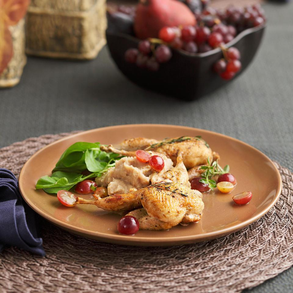 Roasted Quail with Muscadines Virginia Willis