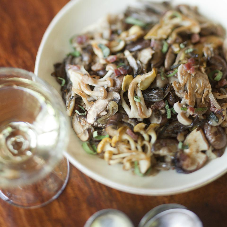 This recipe for sautéed mushrooms with caramelized shallots is one of those dishes that will haunt you. You might want to add a splash of excellent vinegar or some freshly grated lemon zest, but neither is necessary. Though a side of mushrooms may not be traditional, you'll be amazed at how well they go with everything on the Thanksgiving menu.