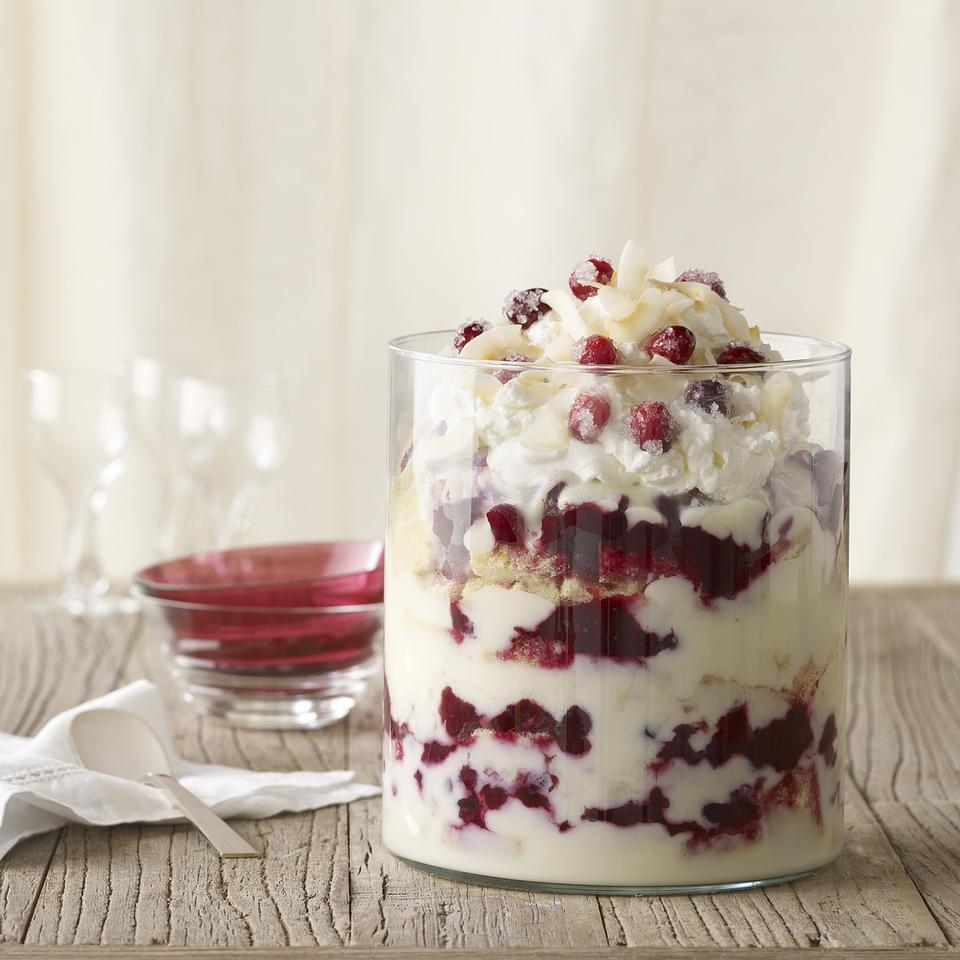 Cranberry Coconut Trifle Katie Webster