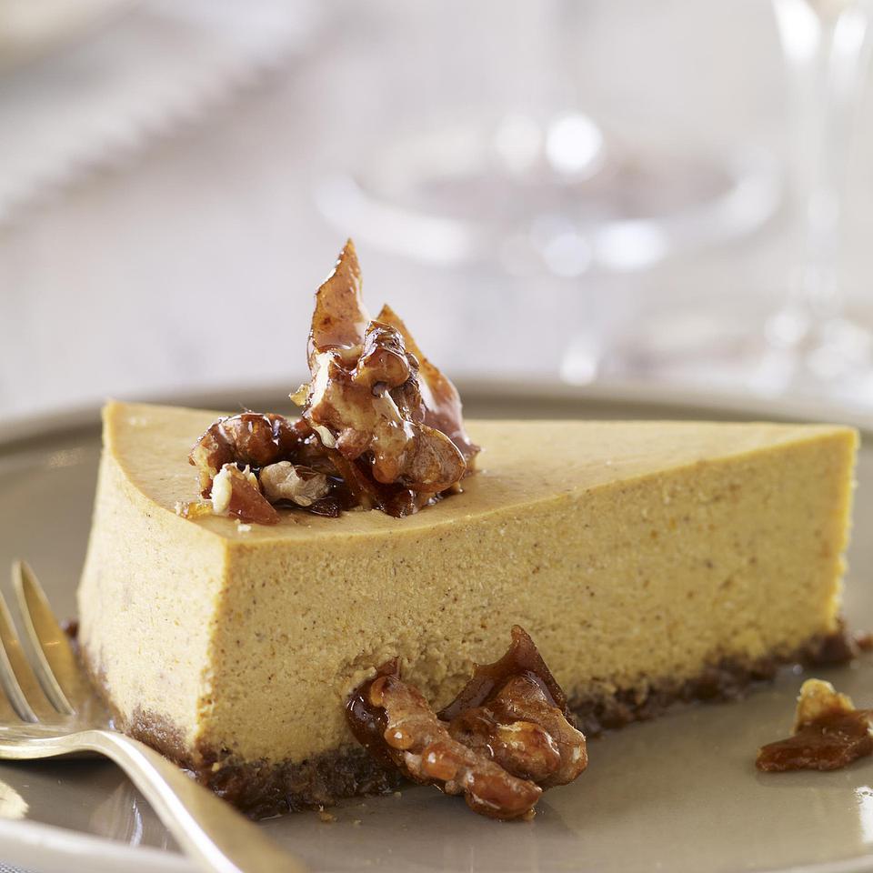 Gluten-Free Pumpkin Cheesecake with Gingersnap-Walnut Crust Carin Krasner