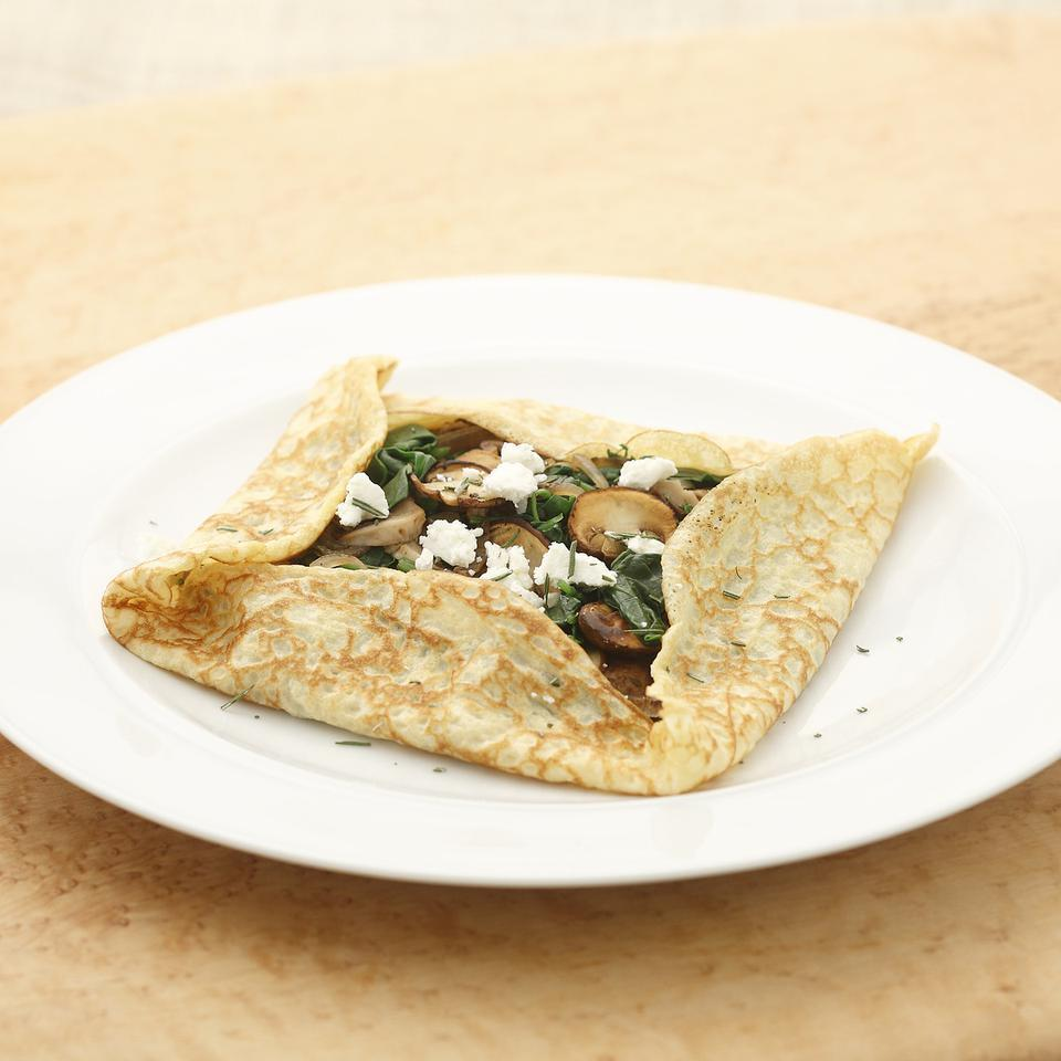 Mushroom & Spinach Crepes EatingWell Test Kitchen