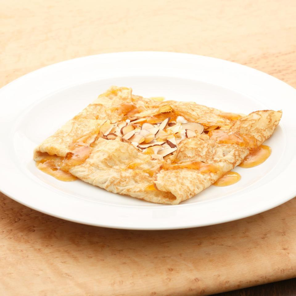 Sweetened Ricotta & Apricot Crepes EatingWell Test Kitchen
