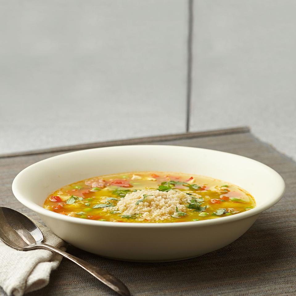 Couscous Paella Soup for Two EatingWell Test Kitchen