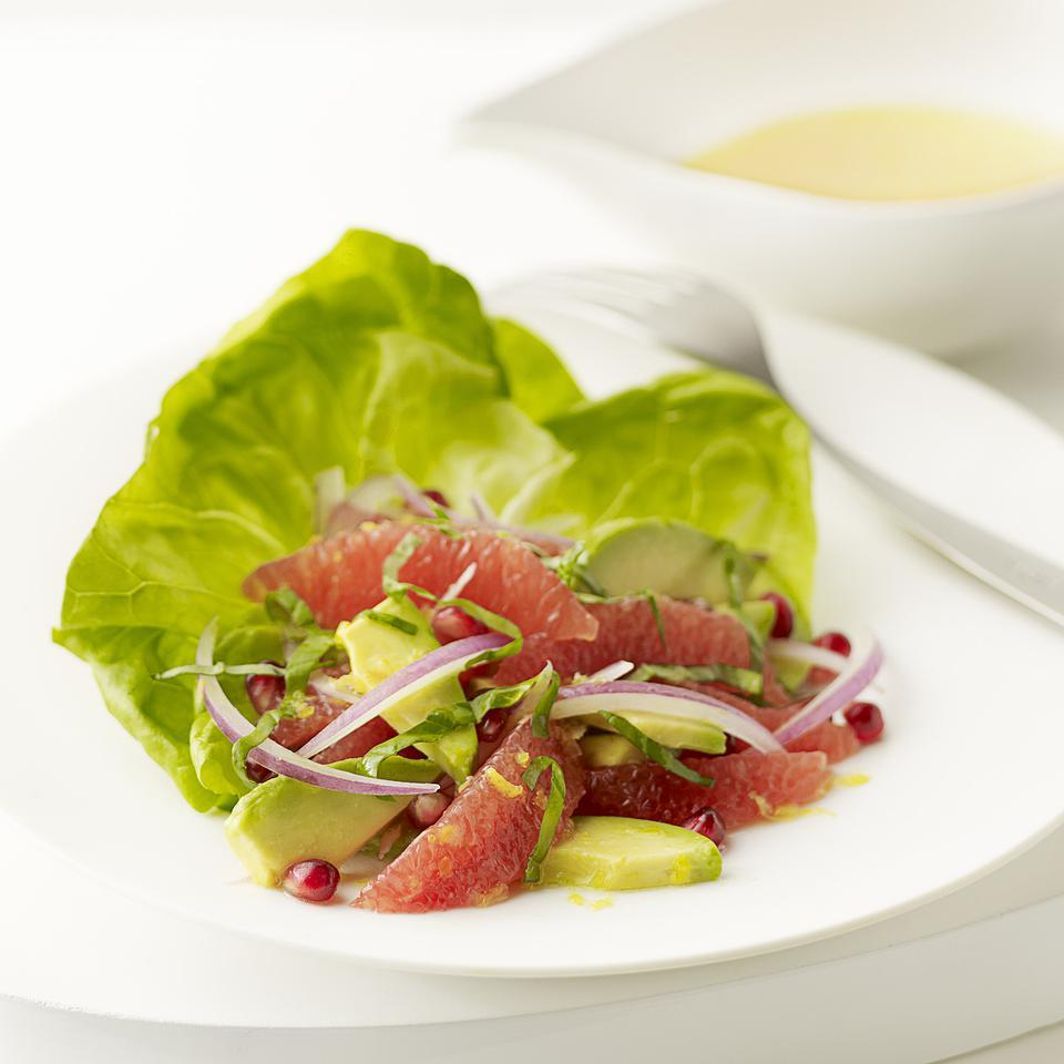 Pink Grapefruit & Avocado Salad Lori Longbotham