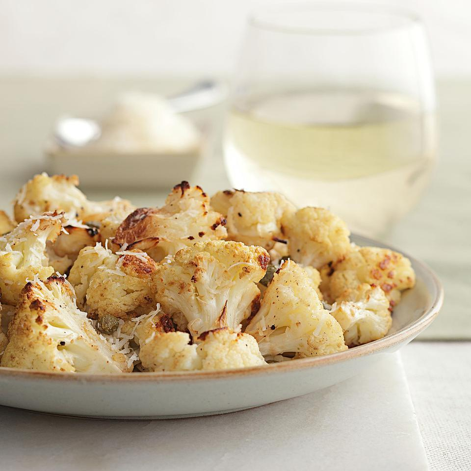 Roasted Lemon-Parmesan Cauliflower with Capers EatingWell Test Kitchen