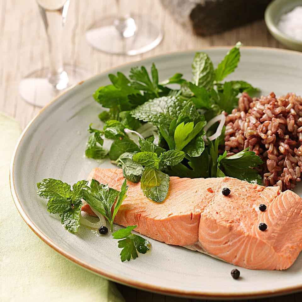 Poached Salmon with Fresh Herb Salad Barton Seaver