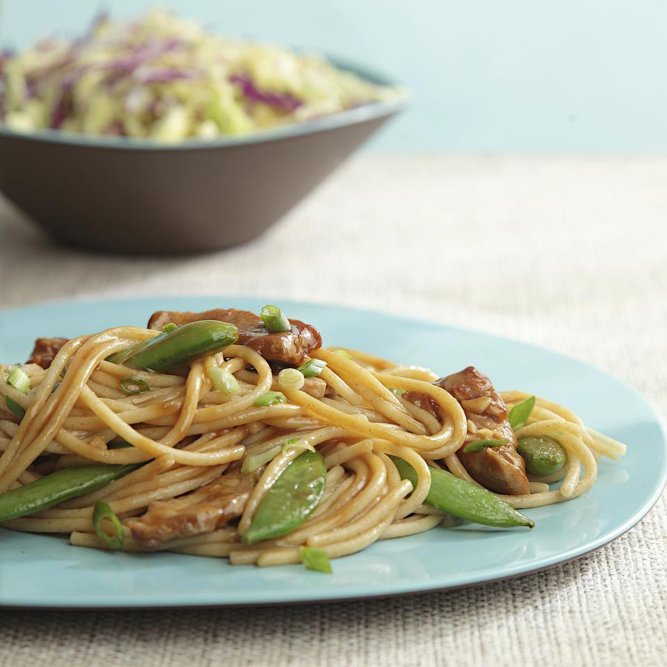 Pork & Snap Pea Lo Mein EatingWell Test Kitchen
