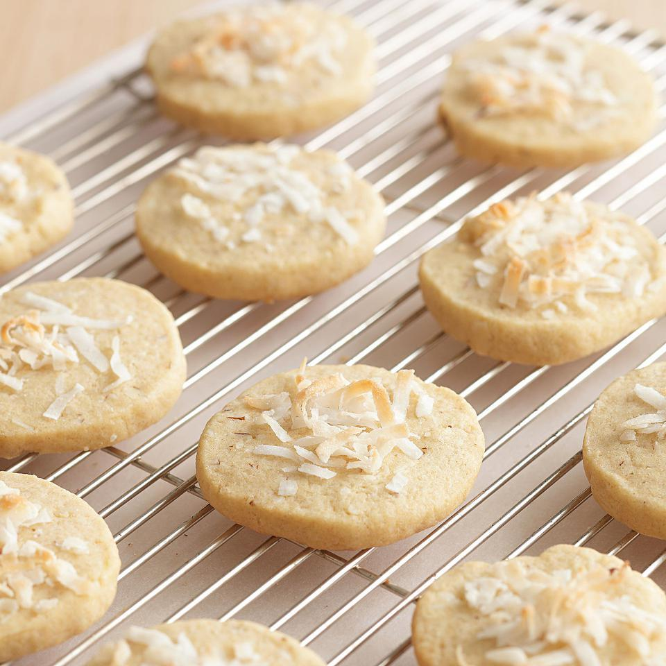 Almond-Coconut Cookies EatingWell Test Kitchen