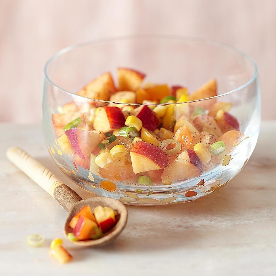 Nectarine, Corn & Tomato Relish EatingWell Test Kitchen