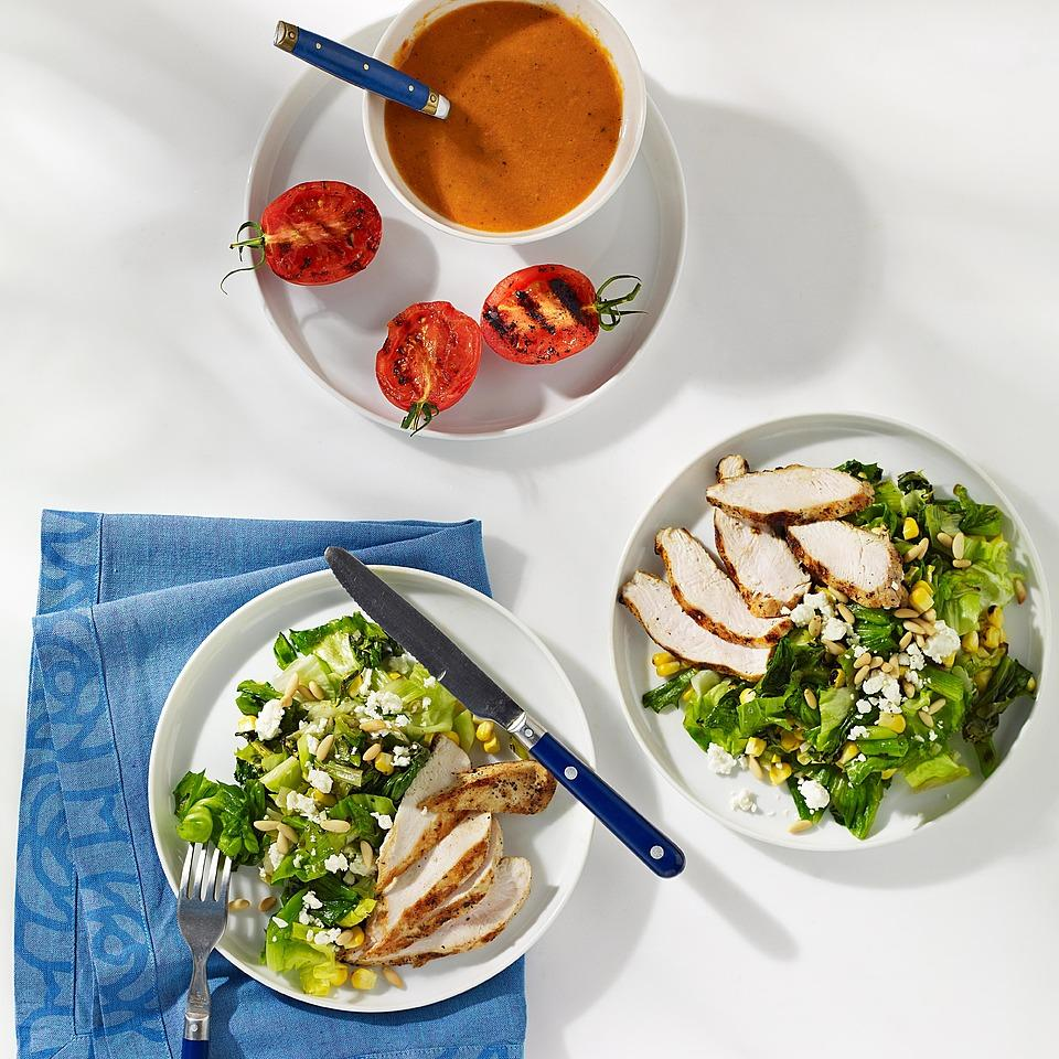 Feta, Corn & Chicken Salad with Smoky Tomato Dressing Carolyn Malcoun