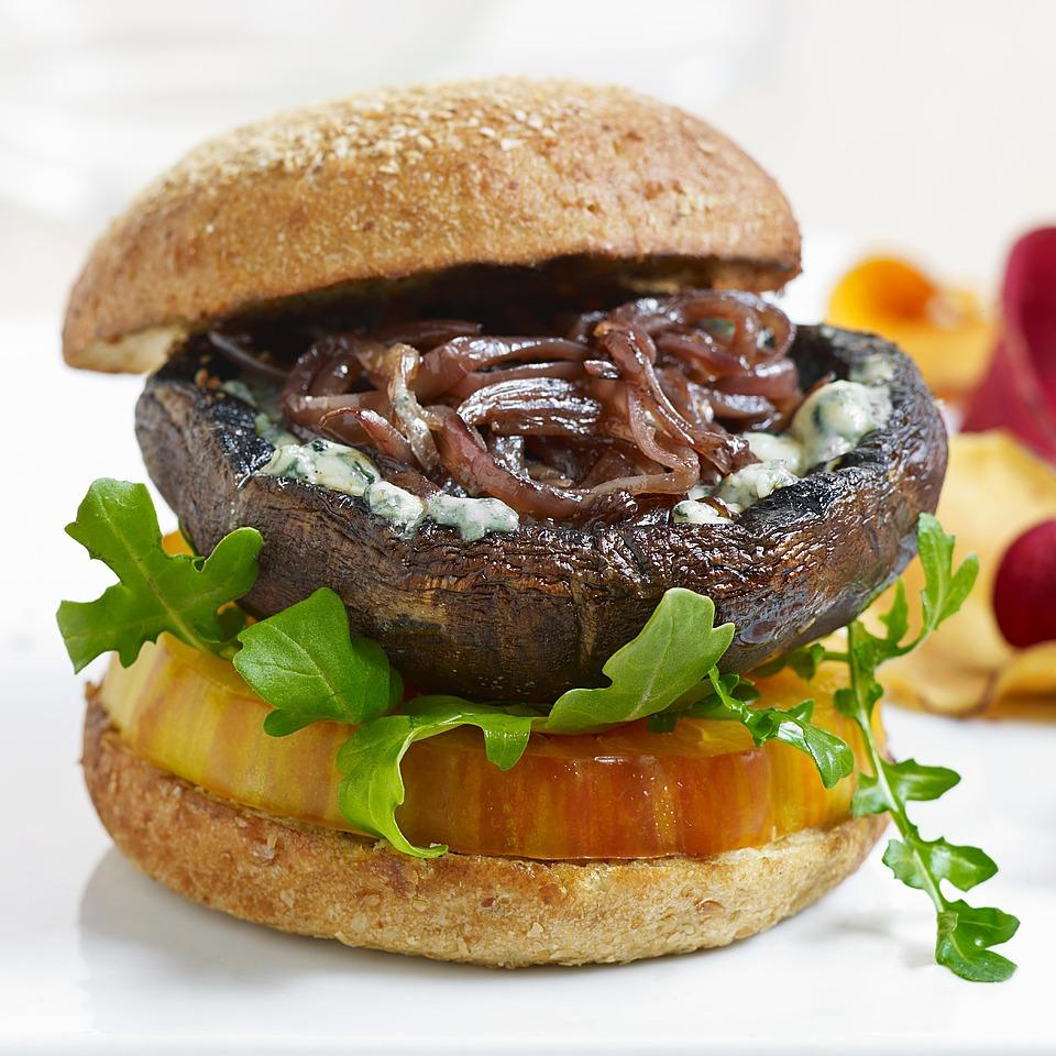 Blue Cheese Portobello Burgers David Bonom