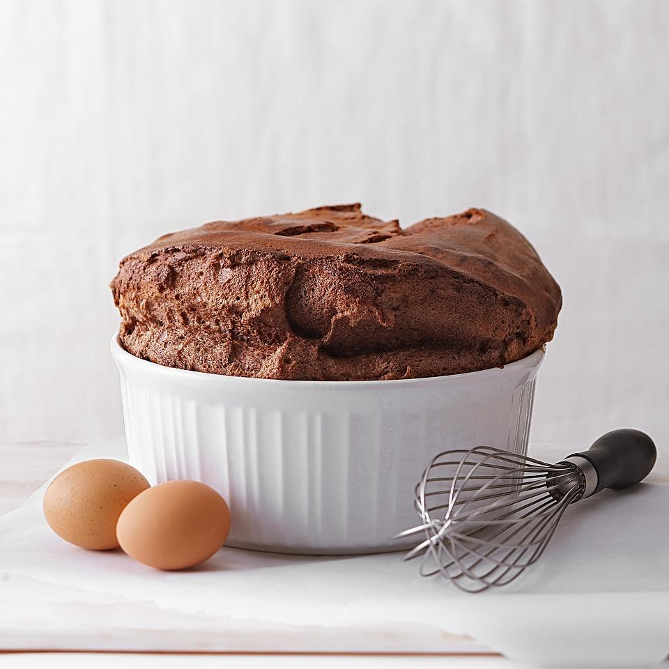 Soufflé de chocolate con sólo 2 ingredientes
