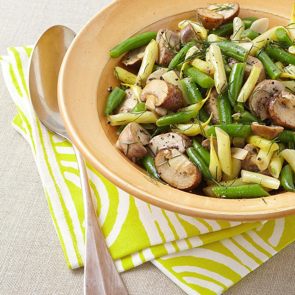 Mushroom & String Bean Salad EatingWell Test Kitchen