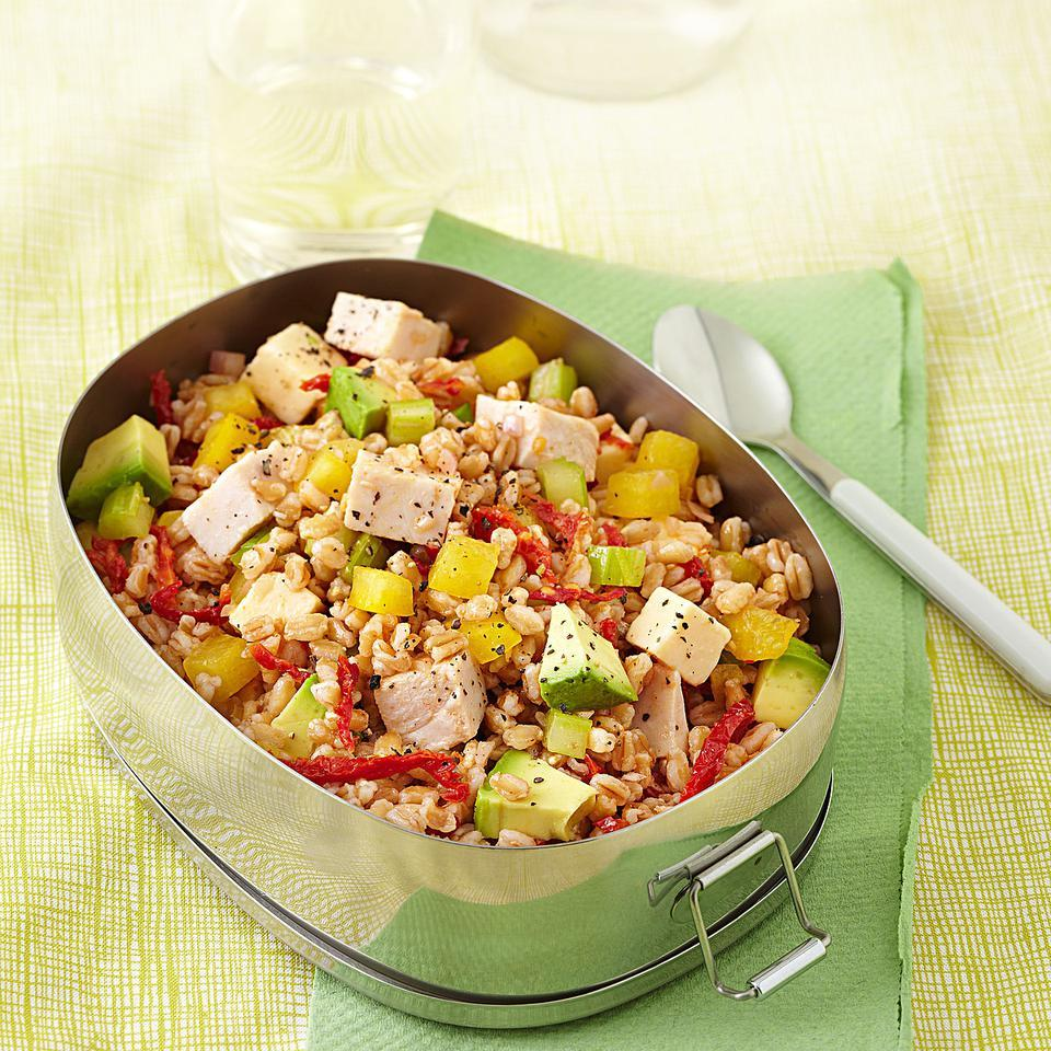 Smoked Turkey & Farro Salad EatingWell Test Kitchen