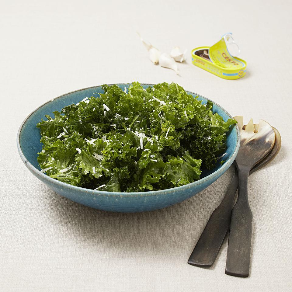 Massaged Mustard Greens Salad EatingWell Test Kitchen